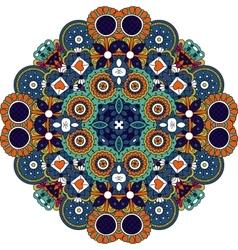Pretty geometric design colored orange and blue vector image vector image