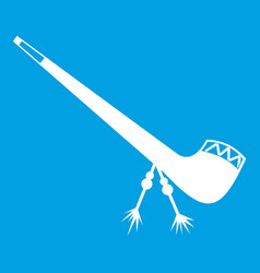 smoking pipe icon white vector image