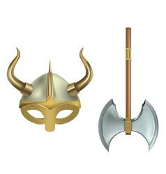 viking equipment vector image