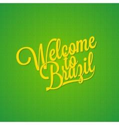 Brazil vintage lettering background vector image vector image