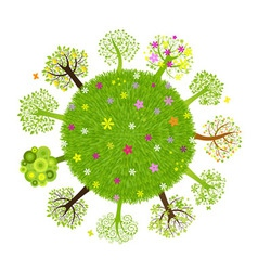 eco planet with tree vector image