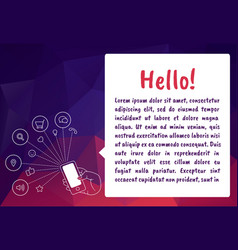 flat line icon concept of new email notification vector image