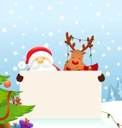 Reindeer Santa Message vector image vector image