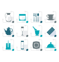 stylized restaurant cafe bar and night club icon vector image vector image