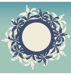 Tropical round frame with palm trees vector image vector image