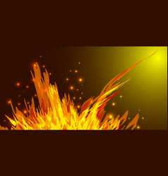 a bonfire with tongues of flame and sparks for the vector image