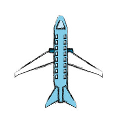 Airplane jet isolated vector