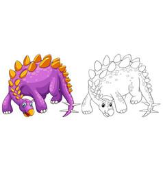 animal outline for stegosaurus vector image vector image