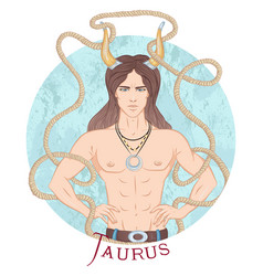 astrological sign taurus vector image