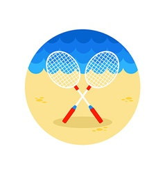 Badminton Racket icon Summer Vacation vector image