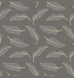Banana leaves seamless pattern background vector