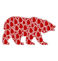 Bear pattern of drop items vector