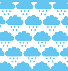 Beautiful fantasy cloud with rain drops pattern vector
