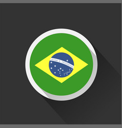 Brazil national flag on dark background vector