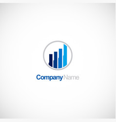 business finance chart company logo vector image