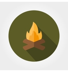 Campfire Icon Flat vector image