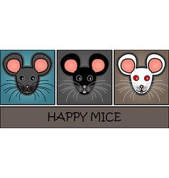 Cartoon mice header vector