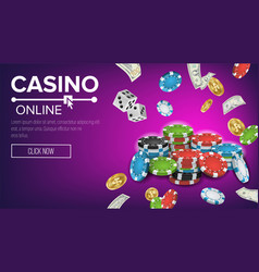casino poster online poker gambling casino vector image