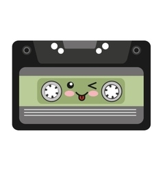 Cassette character isolated icon vector