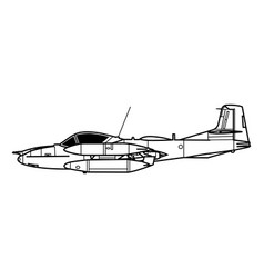Cessna a-37 dragonfly vector