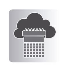 Cloud calendar network icon vector