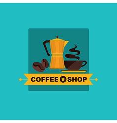 Coffee icon menu Flat design for menu coffee shop vector image