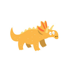 cute cartoon triceratops dinosaur prehistoric vector image