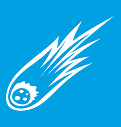 Falling meteor with long tail icon white vector