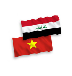 flags iraq and vietnam on a white background vector image