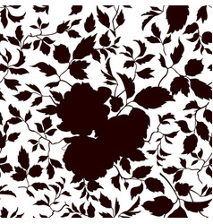 Floral seamless pattern flowers and leaves vector