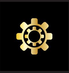 gear tech business logo vector image