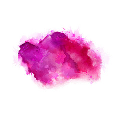 geranium hot pink and magenta watercolor stains vector image
