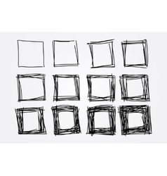 Hand drawn doodle squares design elements vector