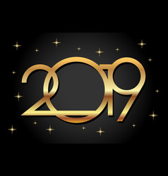 happy new year 2019 gold colornumeral 2019 vector image