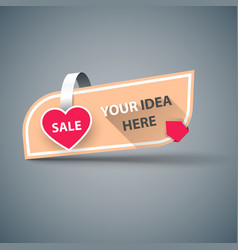 heart - business sale banner vector image