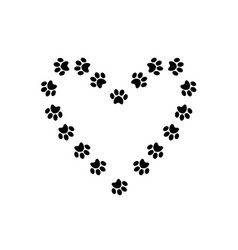 Heart symbol with space for text made of animal vector
