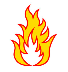 icon of fire vector image