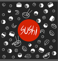 japan food menu restaurant asian food poster top vector image