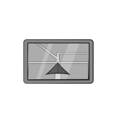 JPS on tablet icon black monochrome style vector image