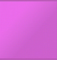 knit pattern background sweater fabric pink color vector image
