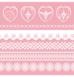 laces and hearts vector image