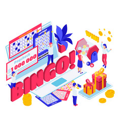 lottery jackpot isometric composition vector image