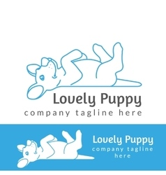 Lovely puppy vector image