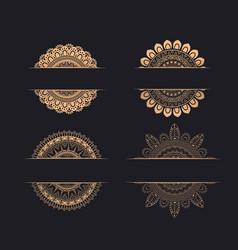 luxury wedding invitation ornaments with mandala vector image
