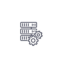 mainframe server line icon vector image