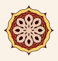 mandala creative circular ornament round vector image