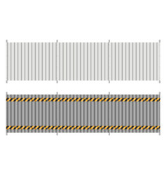 Metal fence from profiled panels vector