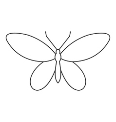 Moth icon outline style vector