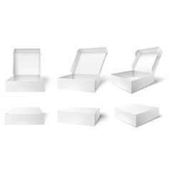 open packaging box blank package boxes opened vector image