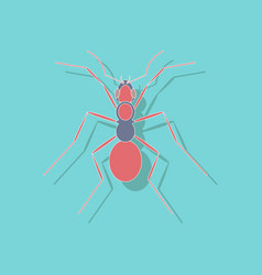 Paper sticker on background of ant vector